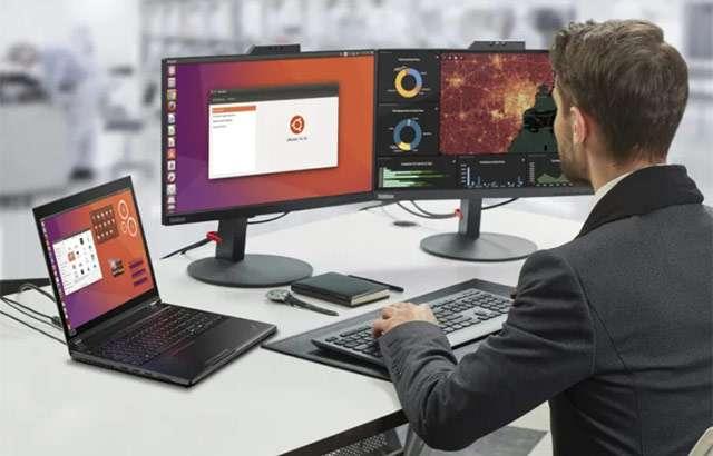 I computer Lenovo con sistema operativo Ubuntu