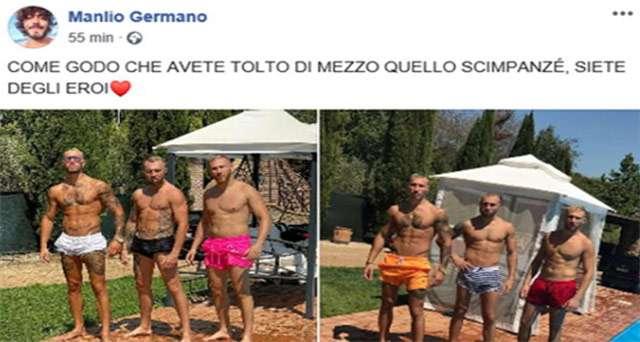 Il post di Manlio Germano su Facebook