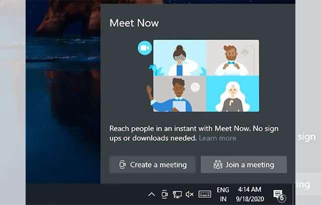 Windows 10: Meet Now
