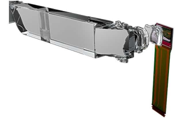 Il display degli occhiali Epson Moverio VM-40