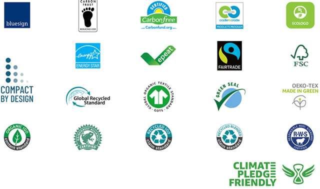 Le certificazioni riconosciute dal Climate Pledge Friendly di Amazon
