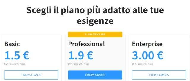 Prezzi Qboxmail