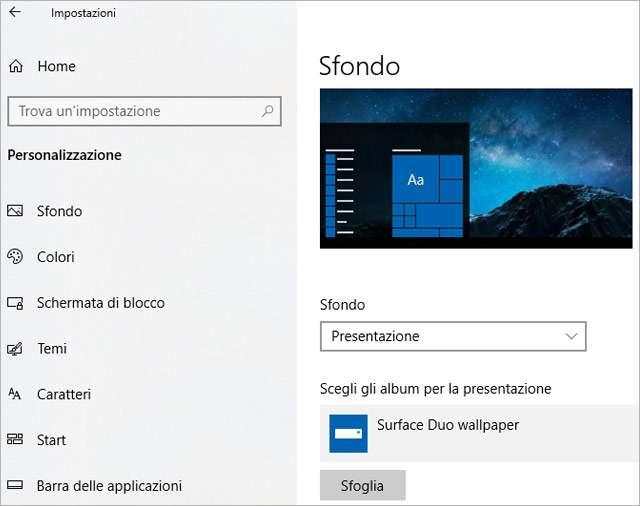 Windows 10: uno slideshow personalizzato per gli sfondi del sistema operativo