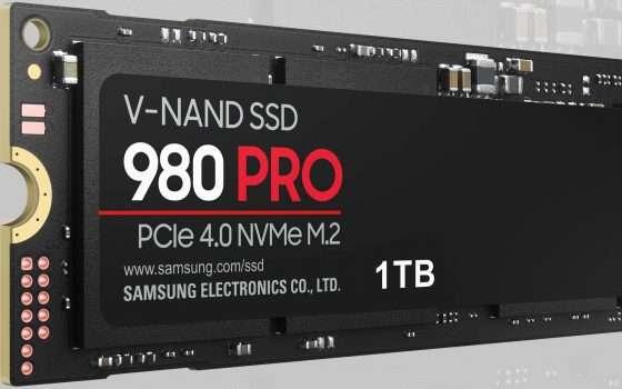 Le nuove Samsung SSD 980 PRO con PCIe 4.0 NVMe