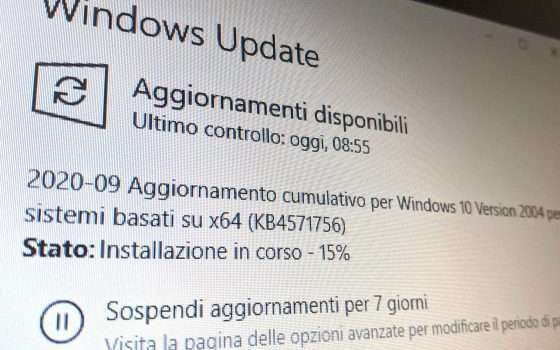 Windows 10 Patch Tuesday settembre 2020: KB4571756