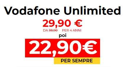 Vodafone Unlimited in offerta