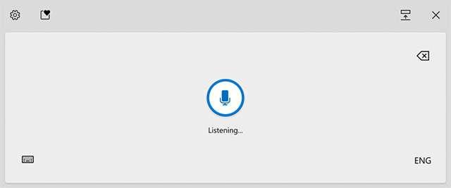 La funzionalità Voice Typing in Windows 10 Insider Preview Build 20206