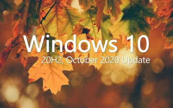 Windows 10: meno di 100 MB per October 2020 Update