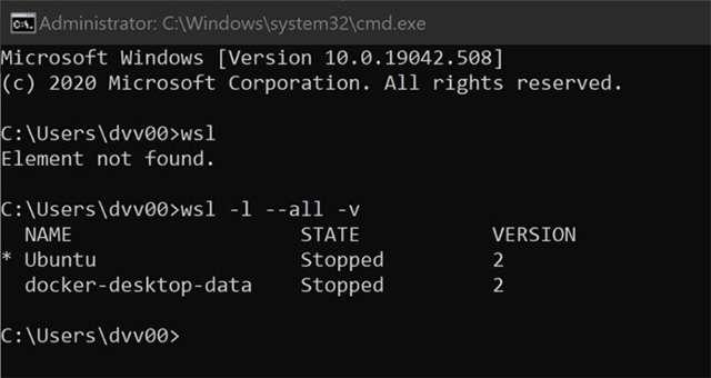 Il problema nel funzionamento di WSL2