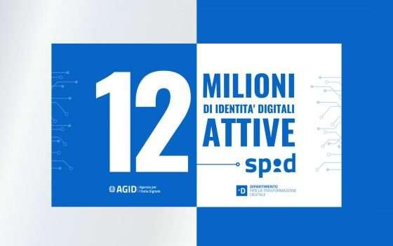 SPID: le identità digitali attive sono 12 milioni