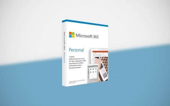 Microsoft 365 Personal in offerta a 49,99 euro