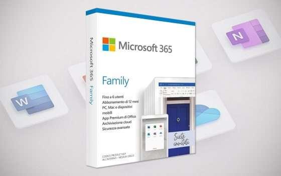 L'abbonamento Microsoft 365 Family a metà prezzo