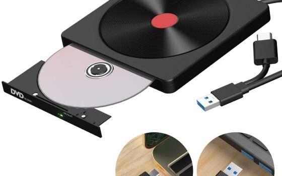 Masterizzatore esterno a meno di 15€: offerta Amazon
