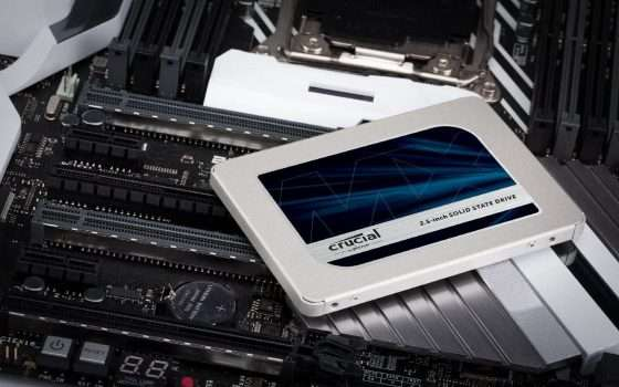 SSD Crucial MX500 al 25% di sconto su Amazon