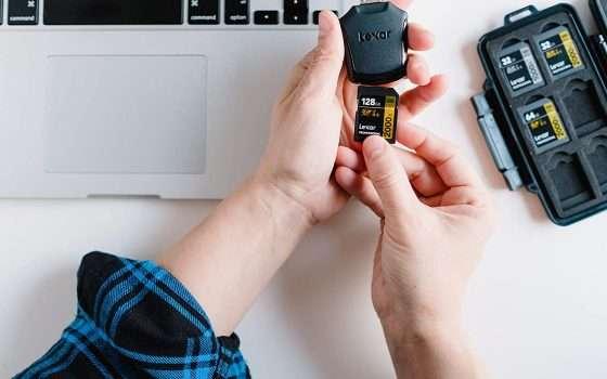 SD Lexar professionale da 128GB scontata di oltre 80 euro