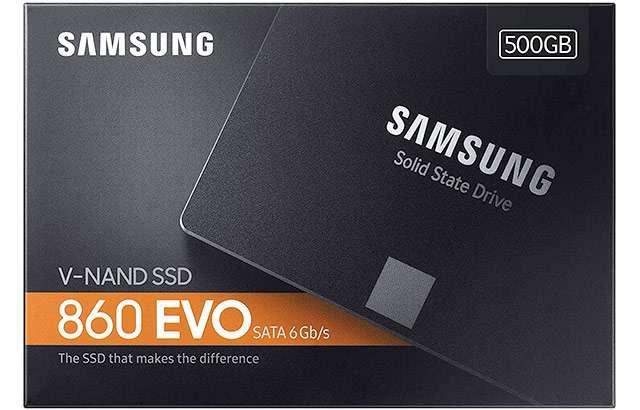 L'unità SSD di Samsung modello 860 EVO da 500 GB