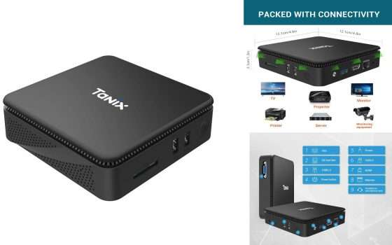 Mini PC Tanix con SoC e GPU Intel a meno di 100€