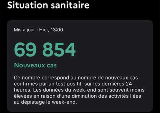 Il numero sbagliato mostrato in Francia dall'applicazione TousAntiCovid per il contact tracing