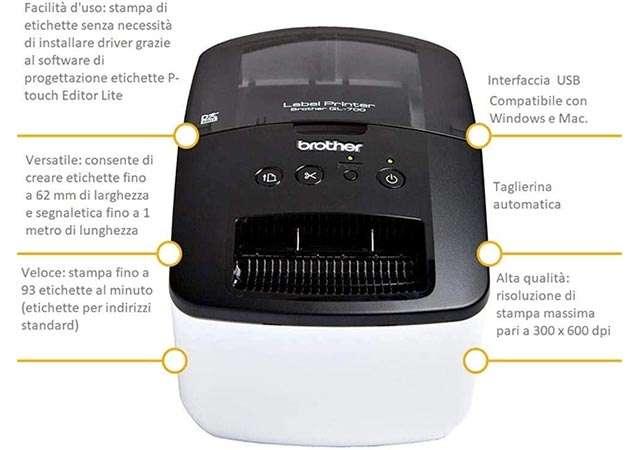 Brother QL700, stampante per etichette
