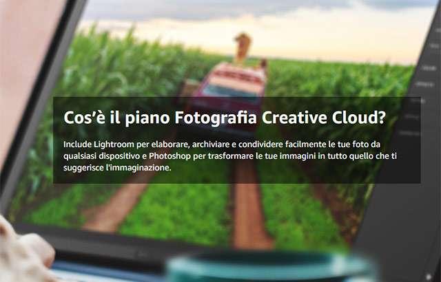Il piano Fotografia di Adobe Creative Cloud