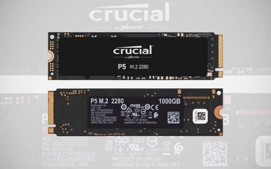 Prime Day: Crucial P5, SSD PCIe da 1 TB a -21%