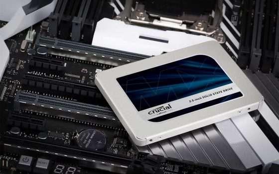 SSD in offerta: Crucial MX500 da 500 GB a -24%