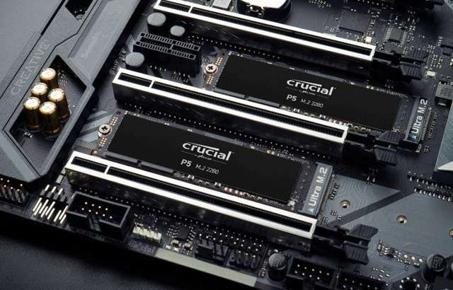 La SSD PCIe di Crucial, modello P5, da 1 TB