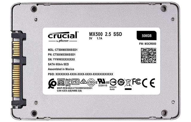 L'unità SSD da 500 GB della linea Crucial MX500