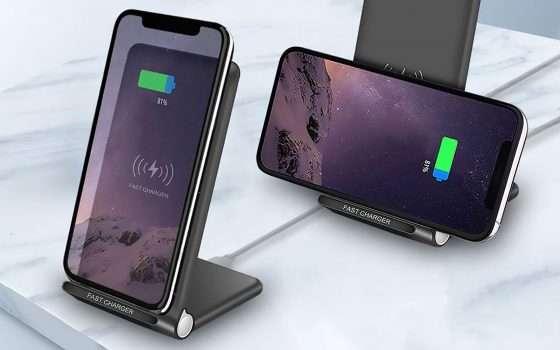 Due dock per la ricarica wireless a pochi euro