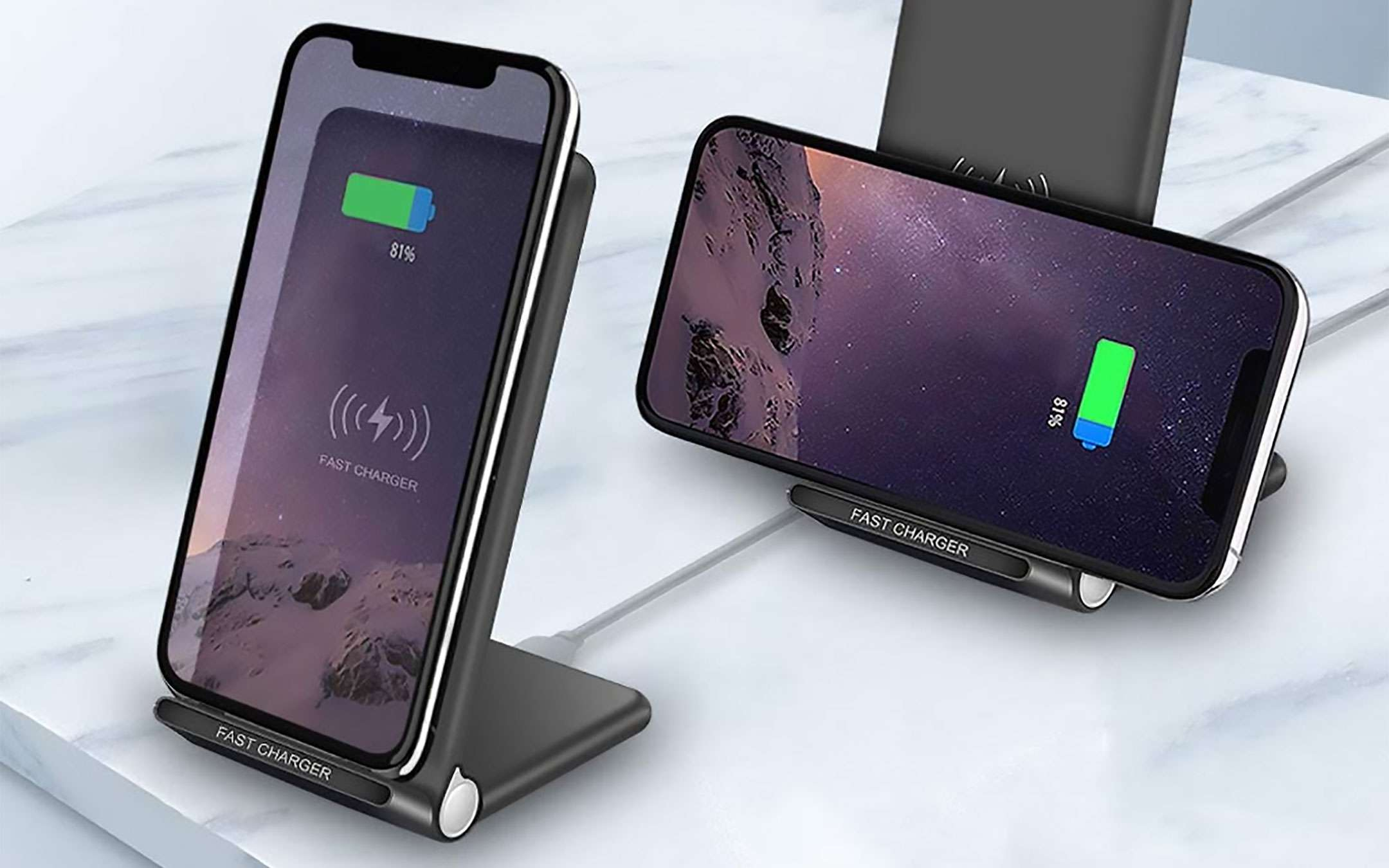 Two docks for wireless charging for a few euros