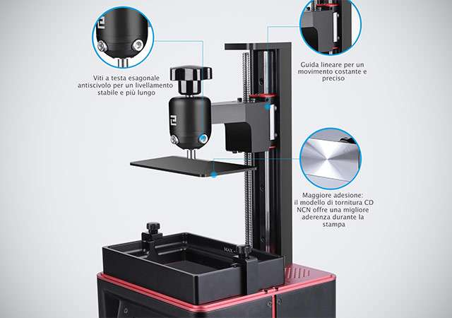 Elegoo Mars Pro, stampante 3D a resina