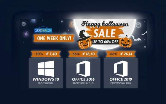 GoDeal24: Solo 6€ Windows 10, solo 15€ Office