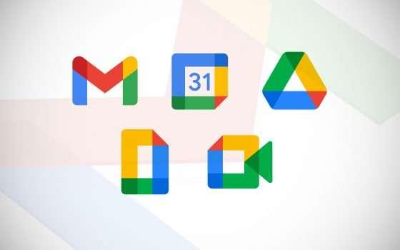 Workspace: nuove icone per i servizi di Google