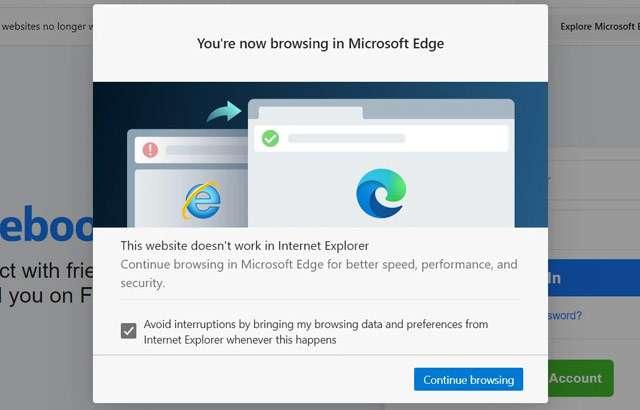 Da Internet Explorer a Edge con un redirect automatico introdotto da Microsoft