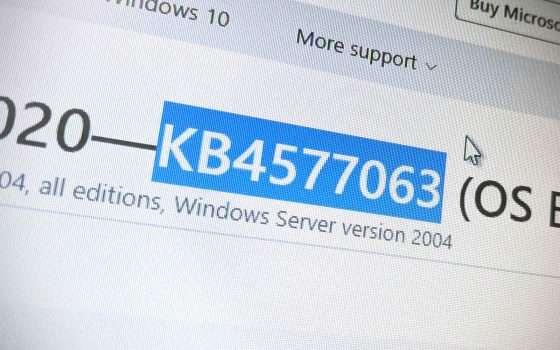 Windows 10: c'è KB4577063 per il May 2020 Update