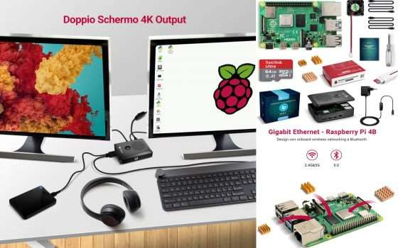 Kit Mini PC Raspberry Pi 4 a meno di 100 euro