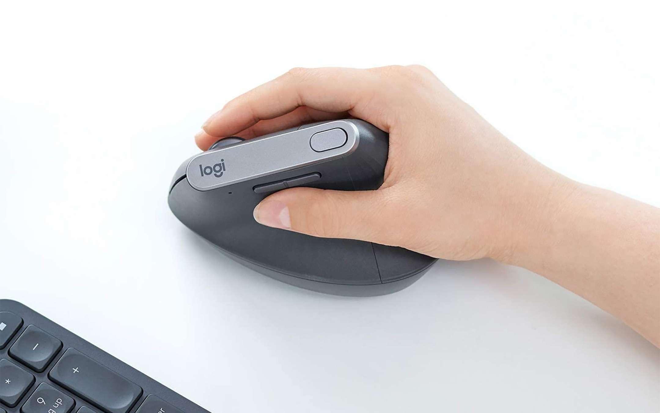The Logitech MX Vertical mouse on sale on Amazon