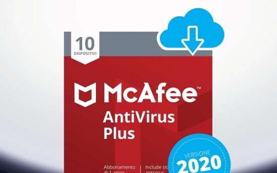McAfee per 10 device: il prezzo crolla del 71%
