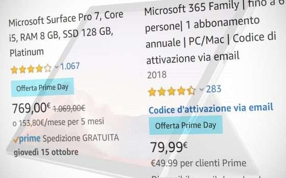 Le offerte di Microsoft per il Prime Day