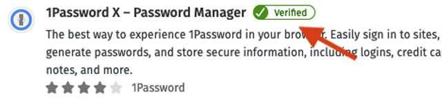 Il badge Verified per le estensioni del browser