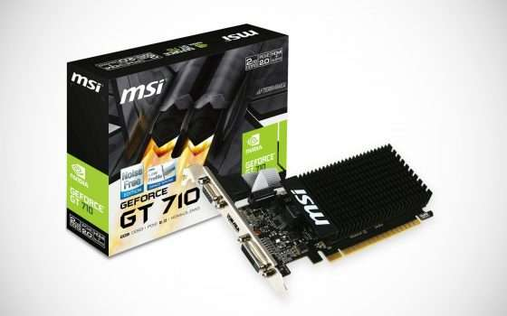 Scheda video MSI GeForce GT710 a 44,90 euro