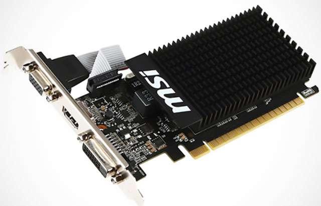 La scheda video MSI GeForce GT710