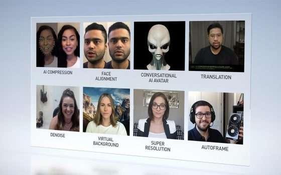 La tecnologia NVIDIA Maxine per le videoconferenze