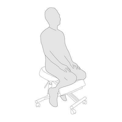 Postura su una sedia ergonomica