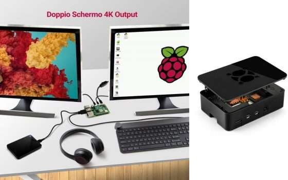 Kit Raspberry PI 4 a meno di 150€ su Amazon