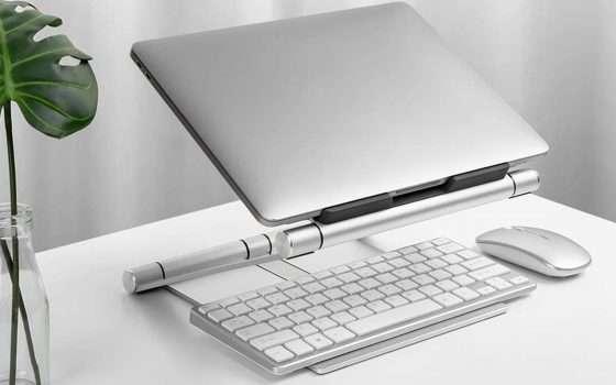 Prime Day, offerta lampo: supporto laptop pieghevole