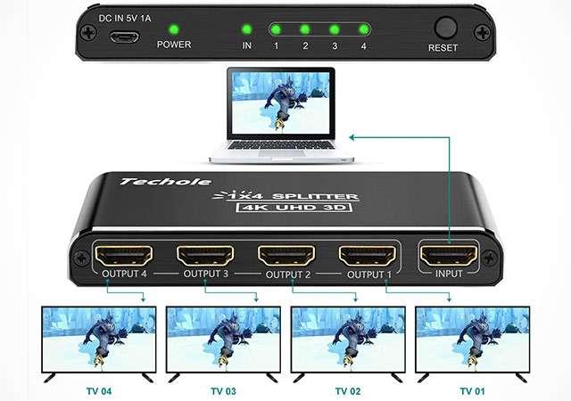 Lo switch HDMI di Techole