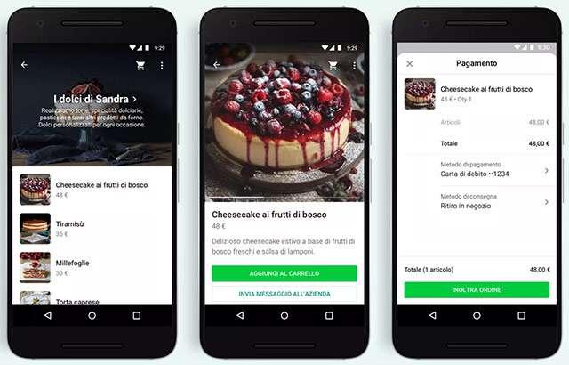 Acquisti e pagamenti direttamente dalle chat di WhatsApp Business