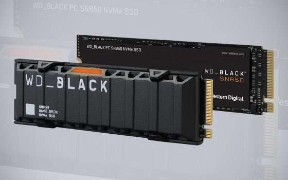 Black SN850 NVMe: la prima SSD PCIe 4 di WD