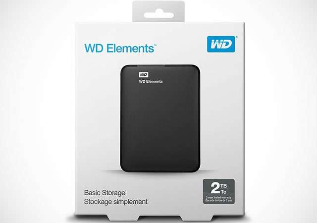 Il disco fisso portatile Western Digital Elements da 2 TB
